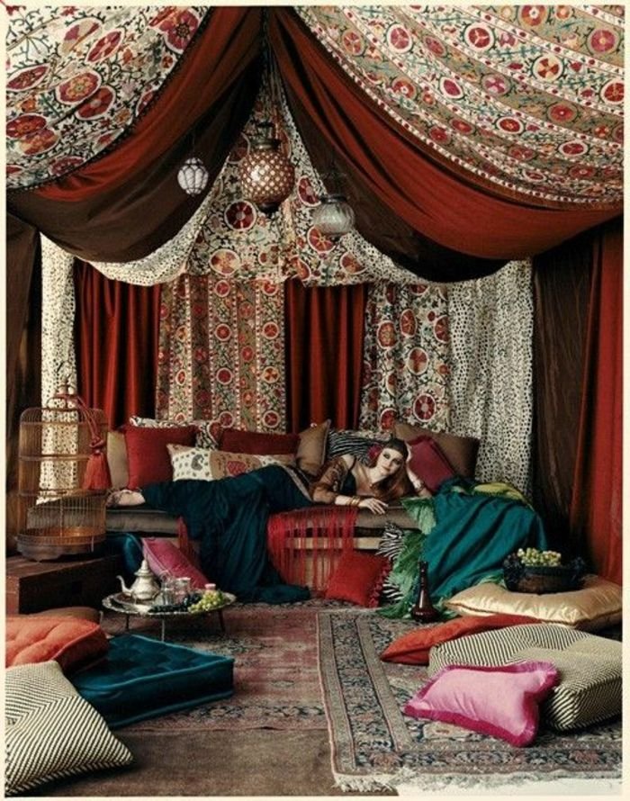 130 ideen f r orientalische deko luxus pur in ihrer wohnung dekoration. Black Bedroom Furniture Sets. Home Design Ideas