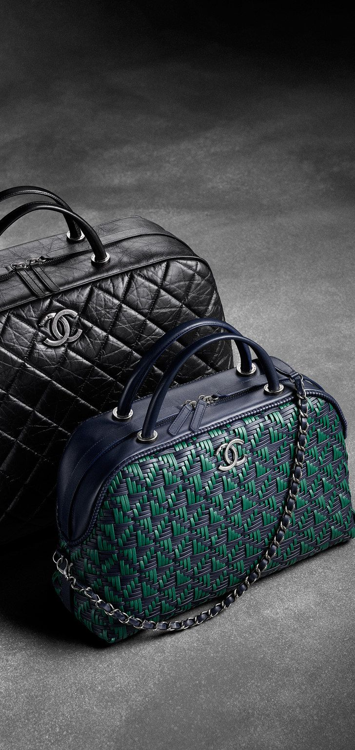 bd4e42017d83 Large calfskin bowling bag with... - CHANEL | . chanel . | Chanel ...