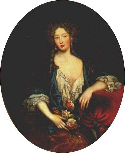 Marie Angélique de Scorailles (1661 – 28 June 1681) was a French noblewoman and one of the many mistresses of Louis XIV. A lady-in-waiting to his sister-in-law the Duchess of Orléans, she caught the attention of the Sun King[1] and became his lover in 1679. She died as a result of childbirth.