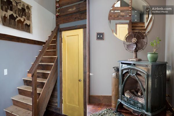 Tiny Rustic DIY House made of Reclaimed Materials in