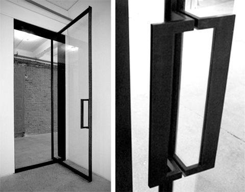 Black glass door pull google search details for Door design lab