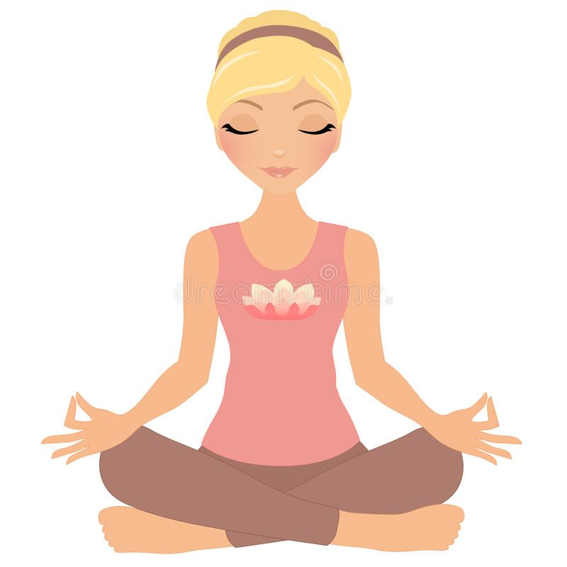Meditation Woman Blonde Woman In Yoga Meditation Pose Spon Blonde Woman Meditation Pose Med In 2020 Meditation Pose Drawing Illustration Meditation Poses