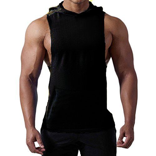 377e5c5bb136e Magiftbox Mens Workout Hooded Tank Tops Sleeveless Gym Hoodies with Kanga  Pocket   Cool and Muscle Cut