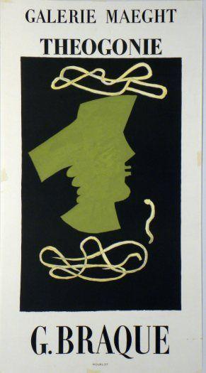 Plakat Georges Braque Affiche Georges Braque Plakat Georges Braque  title Theogony  technology Color lithograph