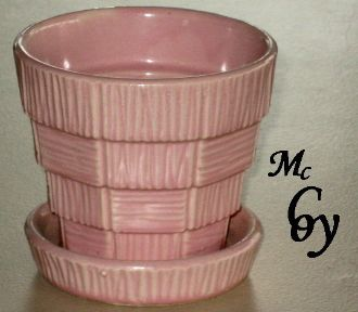 Mccoy Pottery Pink Flower Pot Planter Saucer I Love Mccoy Vintage Pottery Bowls Vintage Flower Pots Pottery Dishes