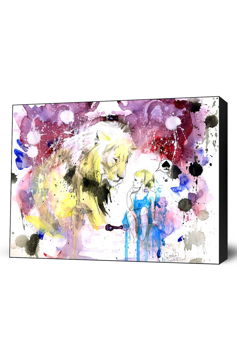 Lora Zombie Whatever, Mounted Canvas