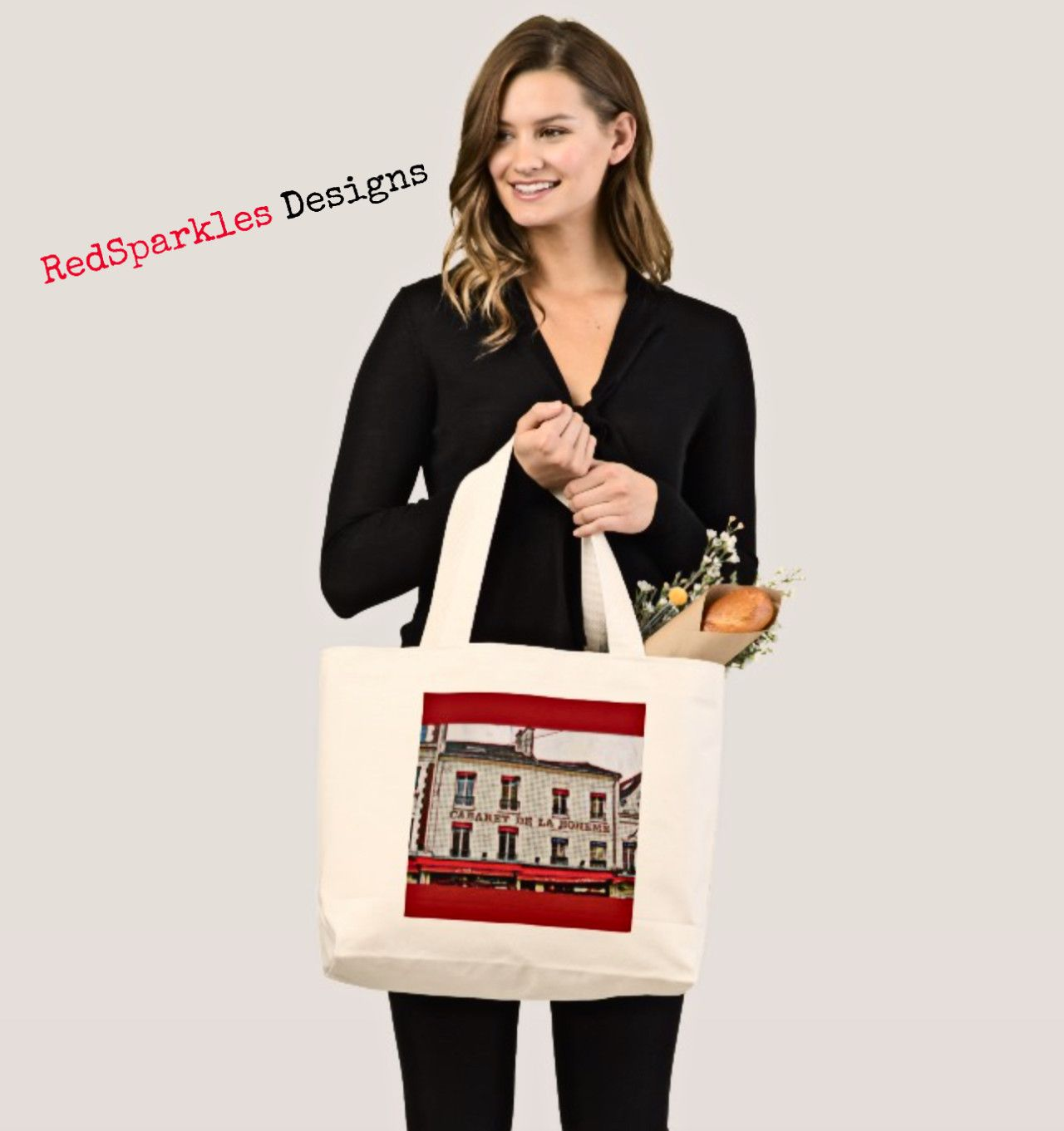 Pop Art Paris Tote Bag |  Pop Art Paris Tote Bag
