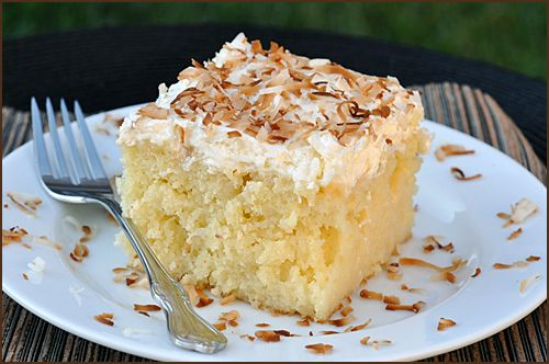 Creamy Coconut Cake Recipe Desserts With Cake Eggs Vegetable Oil Cream Of Coconut Sweetened Condensed Milk Shred Cake Recipes Coconut Cake Recipe Desserts