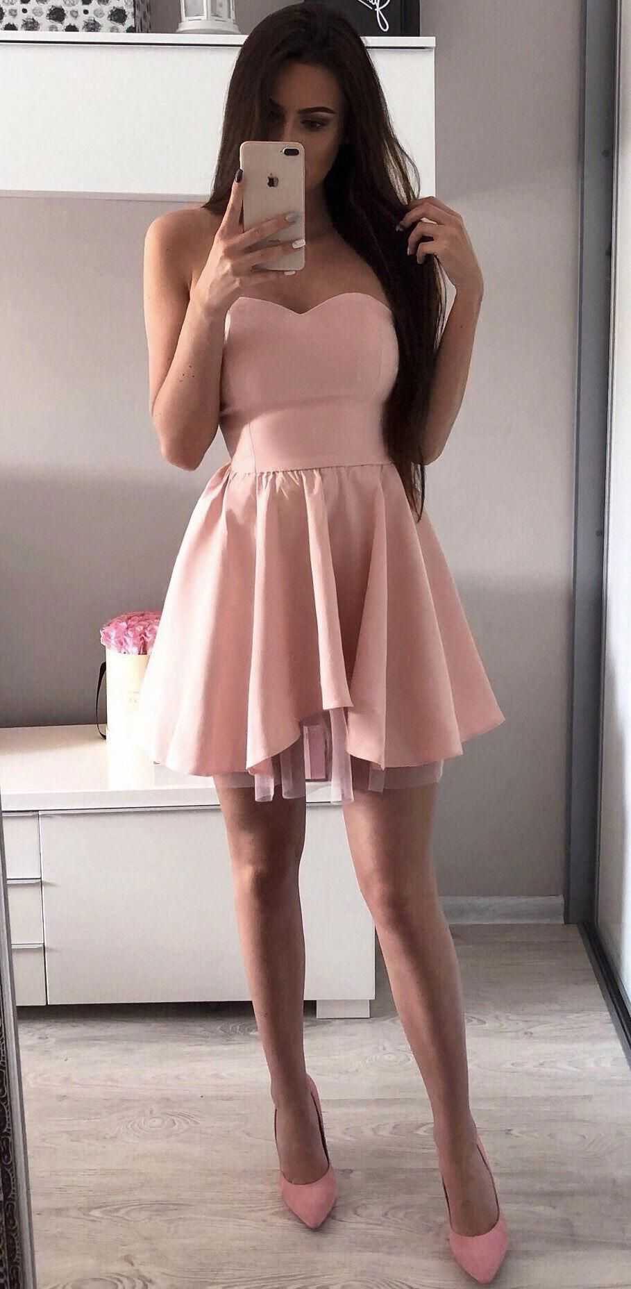 Sweetheart neck red mini homecoming dresses simple short prom dress