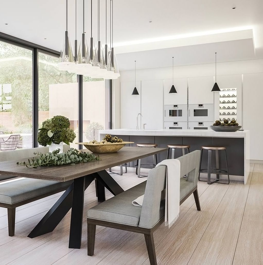 A contemporary kitchen and dining room designed by Bishopswood ...