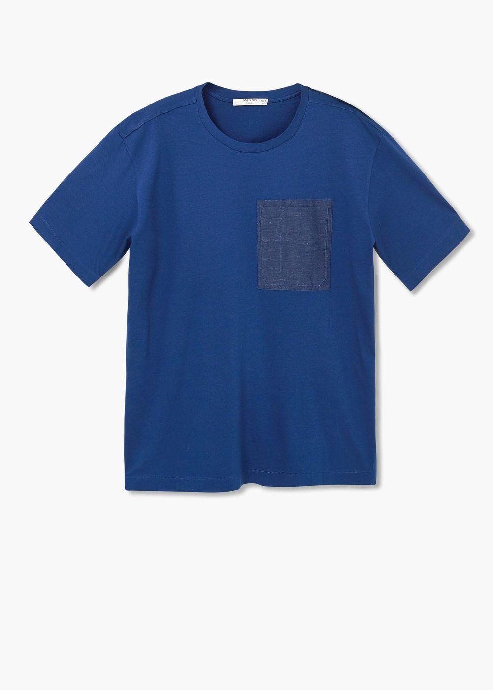 Pocket oversize t-shirt | MANGO MAN