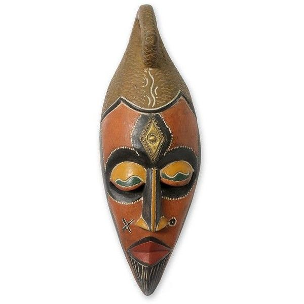 NOVICA African wood mask (€48) ❤ liked on Polyvore featuring home, home decor, masks, wood home decor, novica, wooden home decor, novica masks and novica home decor