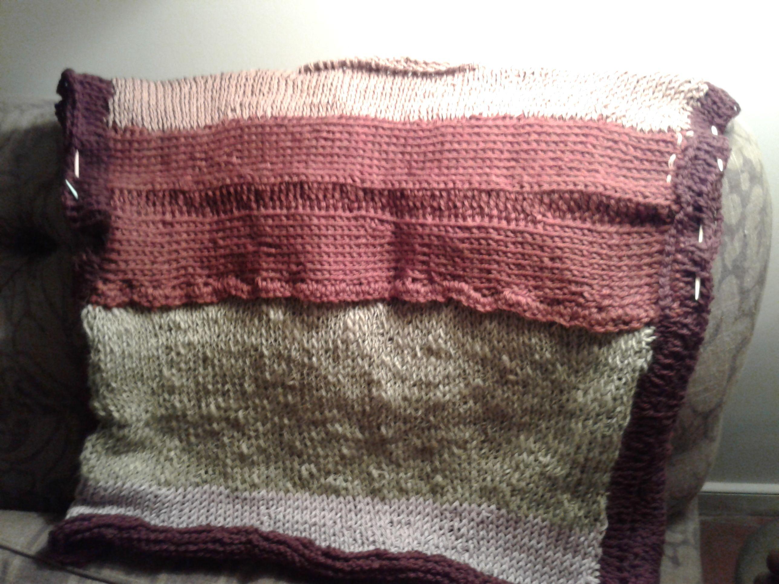 Silk + Wool + Cotton sweater nearing the finishing line