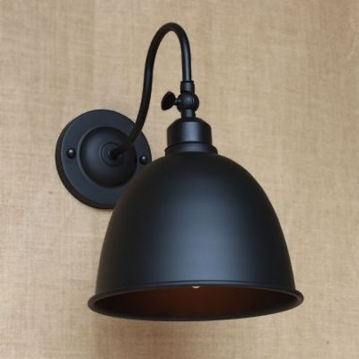 Small Barn Light Gooseneck Pewter Finish Dome Shade Led Wall Sconce Led Wall Sconce Barn Lighting Industrial Wall Lights