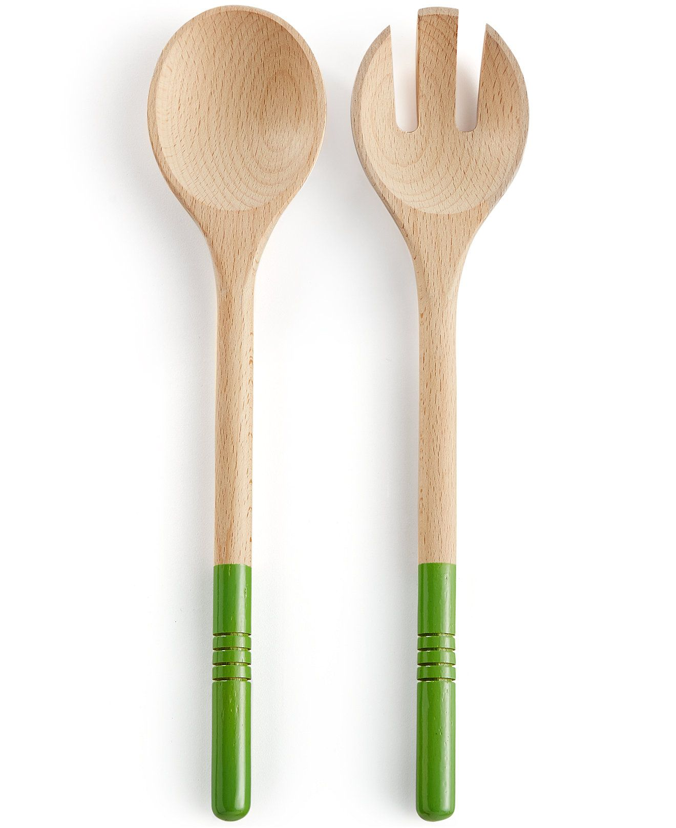 martha stewart collection 2 pc wood salad server set only at