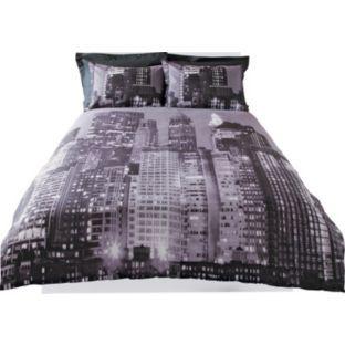 Living Photograph New York Skyline Duvet Cover Set Double At Argos Co