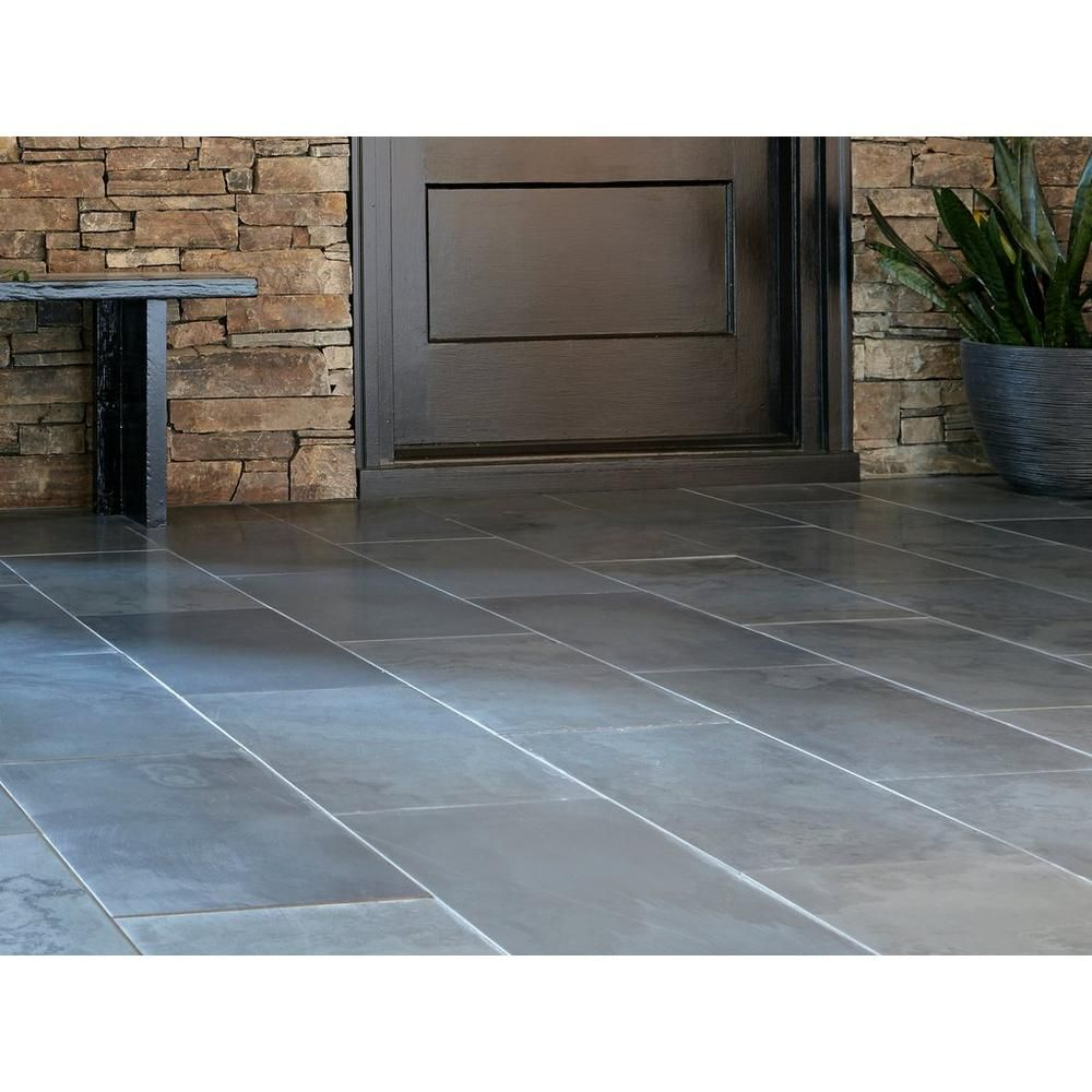 Samba Black Slate Tile 12 X 24 924100211 Floor And Decor