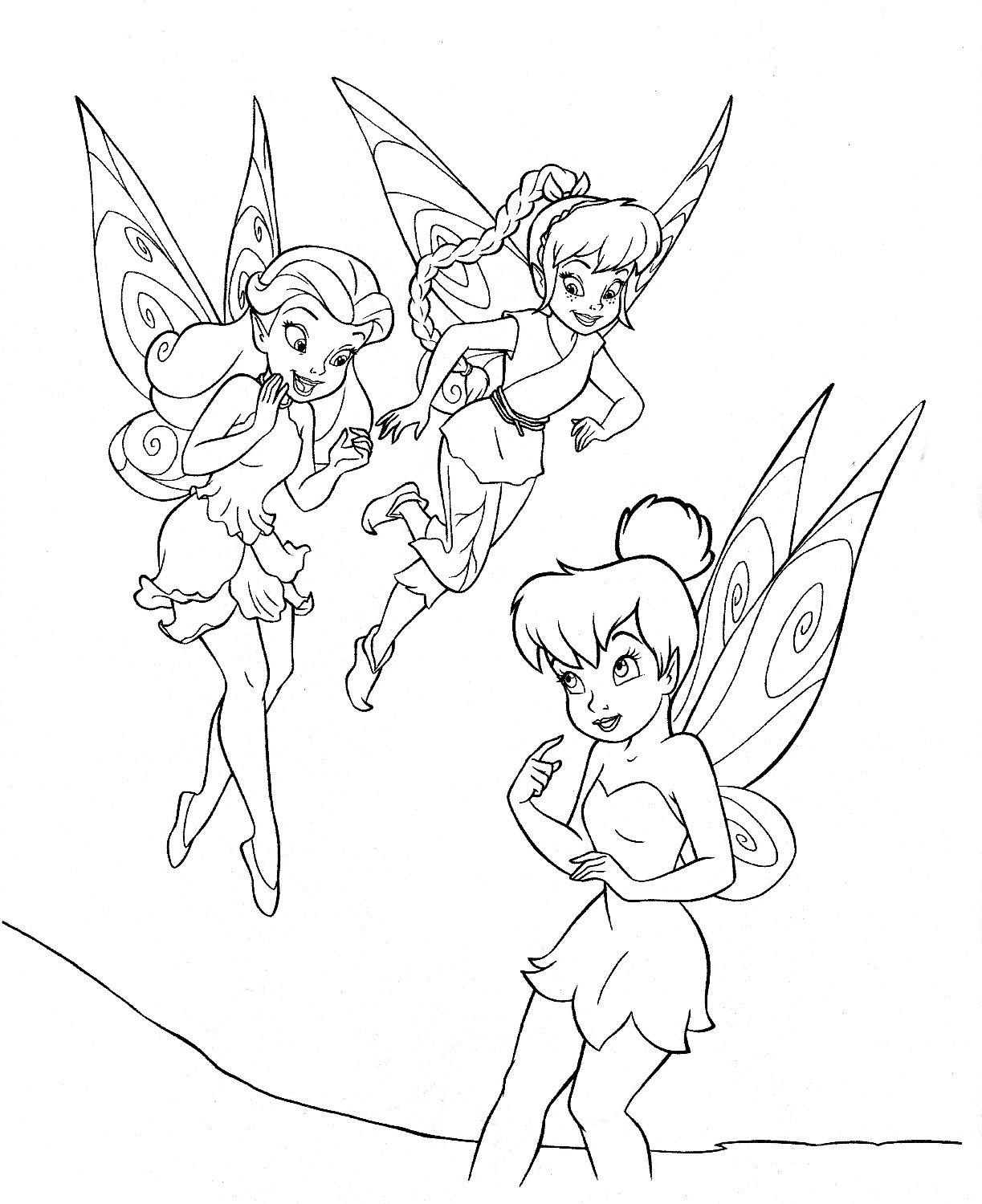 coloring pages free printable tinkerbell coloring pages for kids