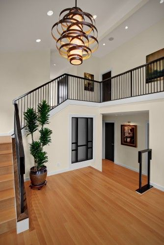 Corbett Vertigo Pendant In Bronze In 2 Story Foyer Contemporary