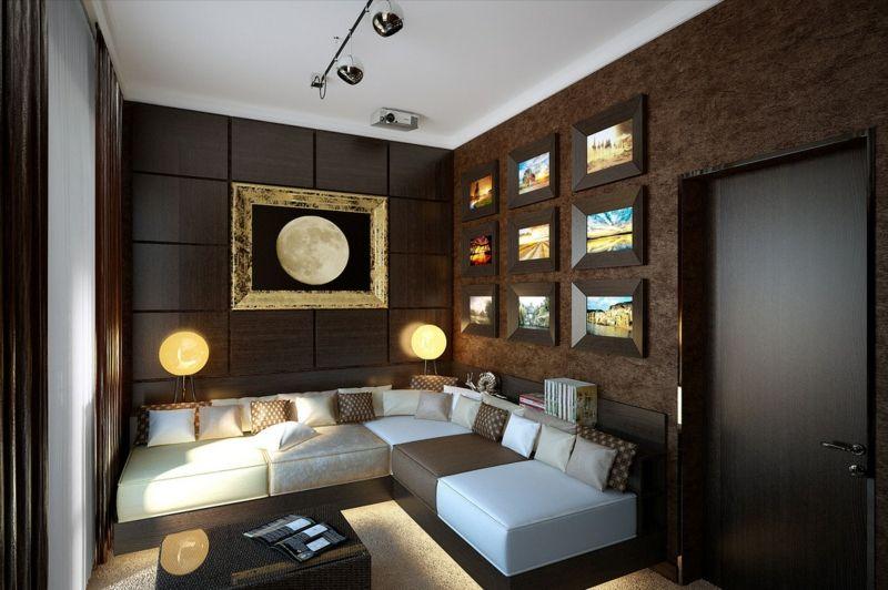 Wandfarbe Braun \u2013 31 Wohnzimmer Ideen #braun #ideen #wandfarbe