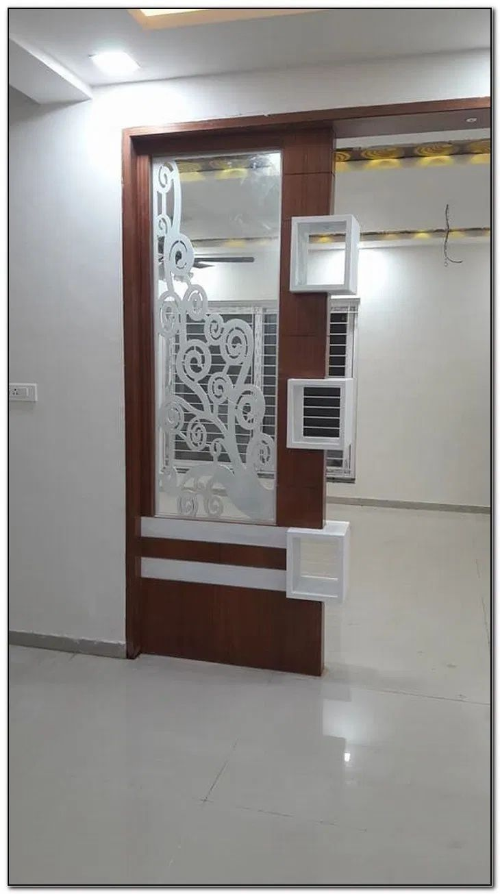 Pin By Bommisetty Radha On Hall Living Room Partition Design Room Partition Designs Room Door Design