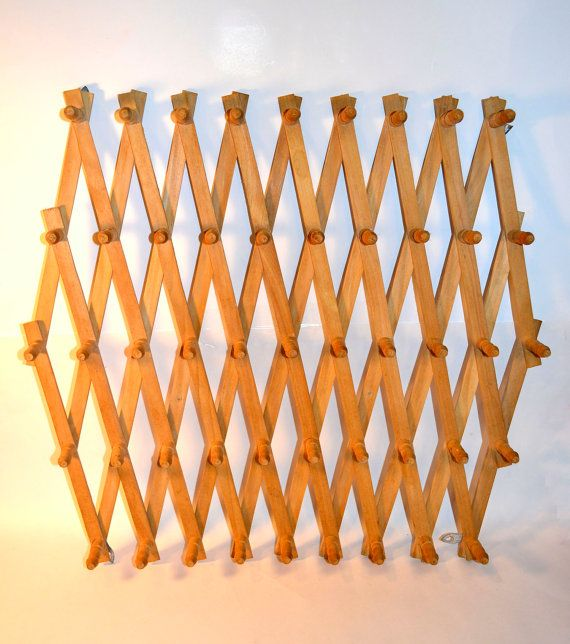 The Ultimate Peg Rack Wooden Accordion Peg Wall By BananasDesign, $24.95 Great Ideas