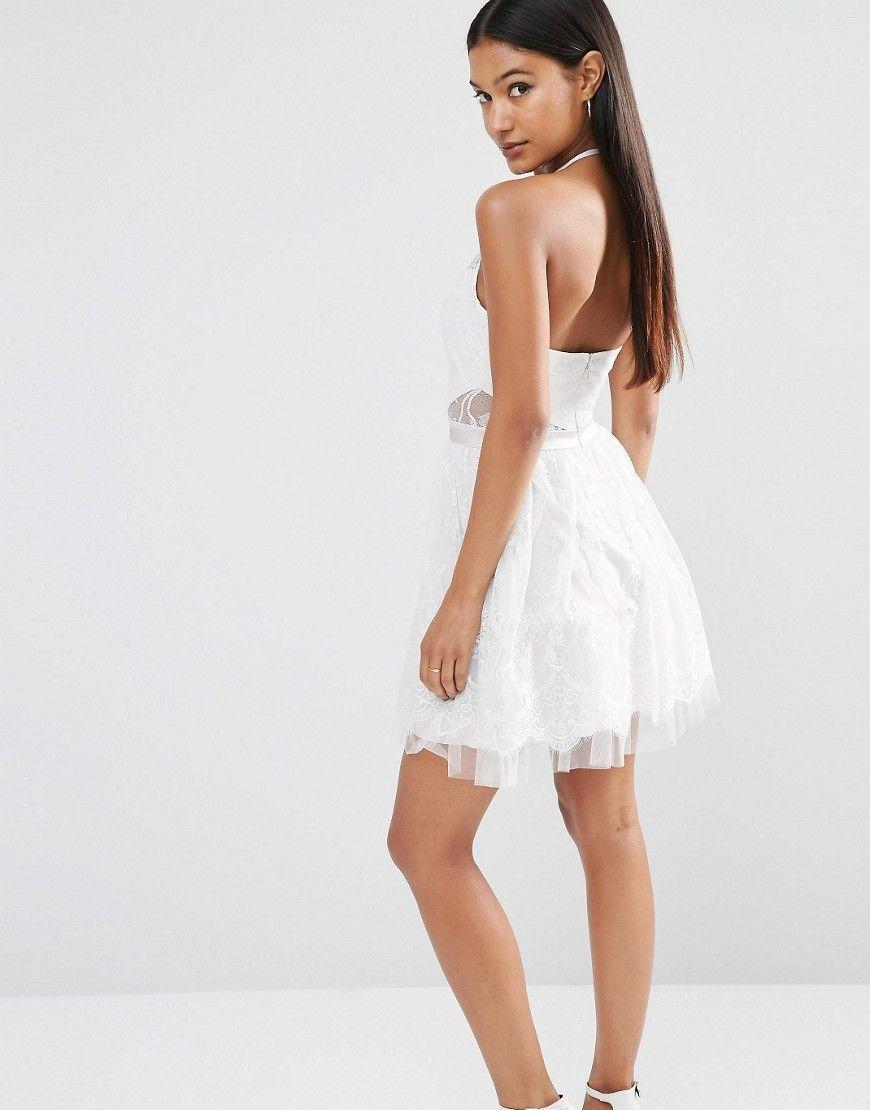 Ariana Grande For Lipsy Lace Mini Prom Dress Mini Prom