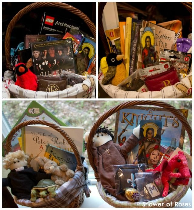 Catholic easter baskets for boys shower of roses on easter more ideas for catholic items to include in easter baskets negle Gallery