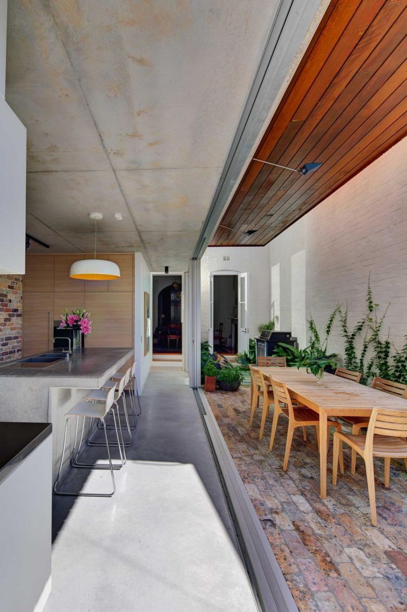 Exposedbrickmatteconcrete outdoor living pinterest exposed