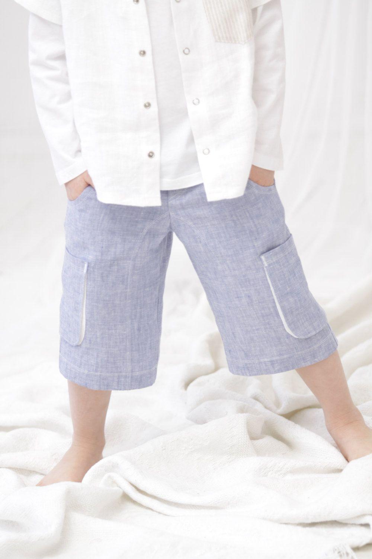 Boys shorts Cargo shorts Toddler boy linen pants Boys trousers Boys ...