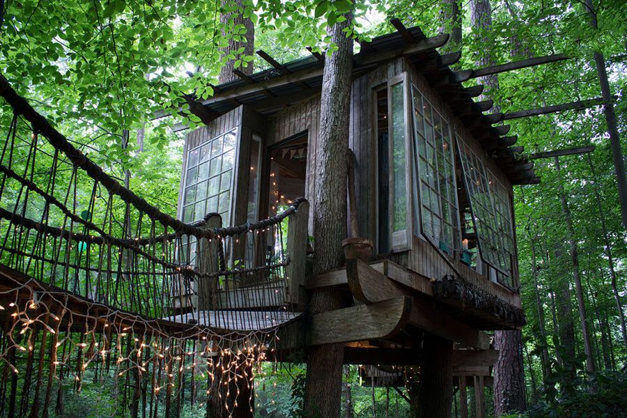 6x Inspirerende Boomhutten : You can rent this treehouse for less than a hotel pinterest