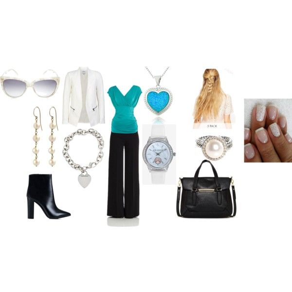 Business Casual in Turquoise by forgetmenot49 on Polyvore