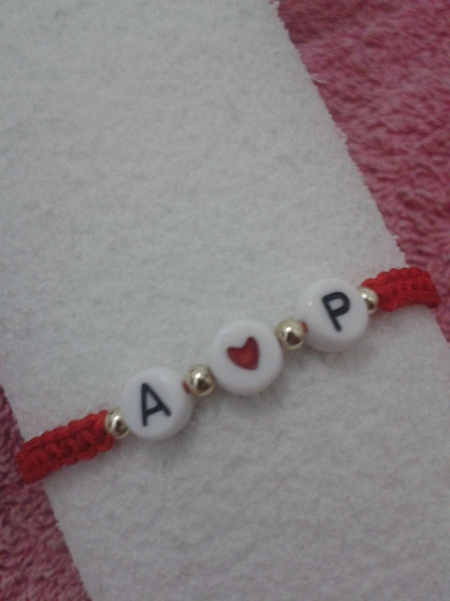 8ddf33c25449 Pulseras Personalizadas Parejas Letras Iniciales Bae Nombres - Bs ...