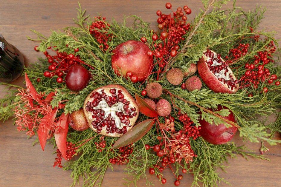 Um Natal Para Celebrar Arranjos De Flores De Natal Frutas
