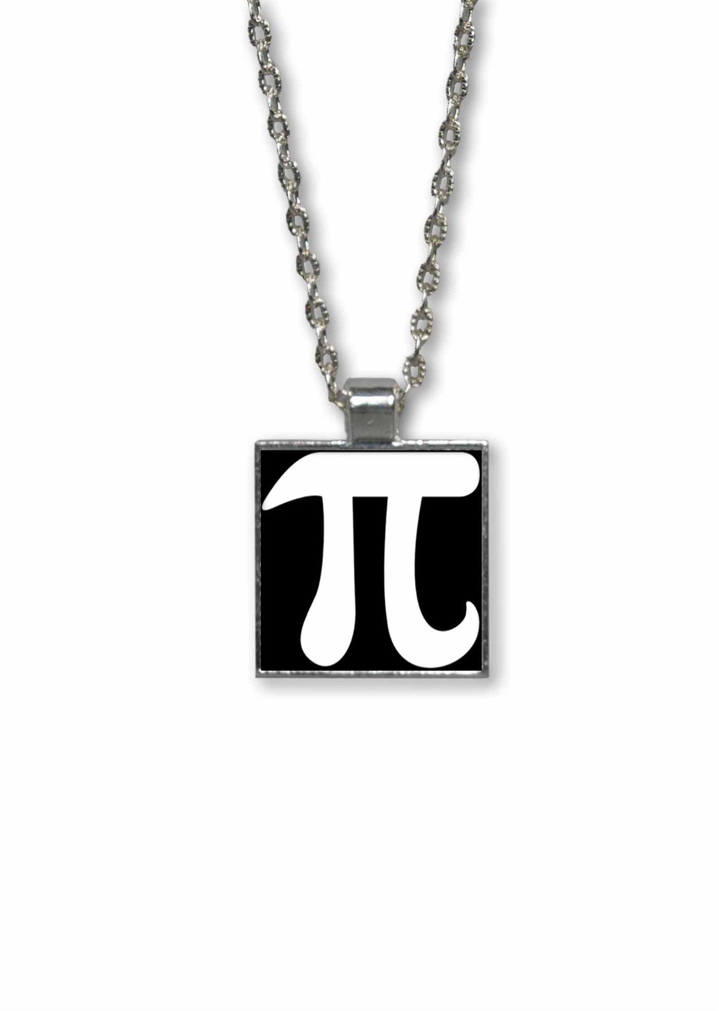 Pi Symbol Pendant Necklace Geeky Math Jewelry Pinterest Pi