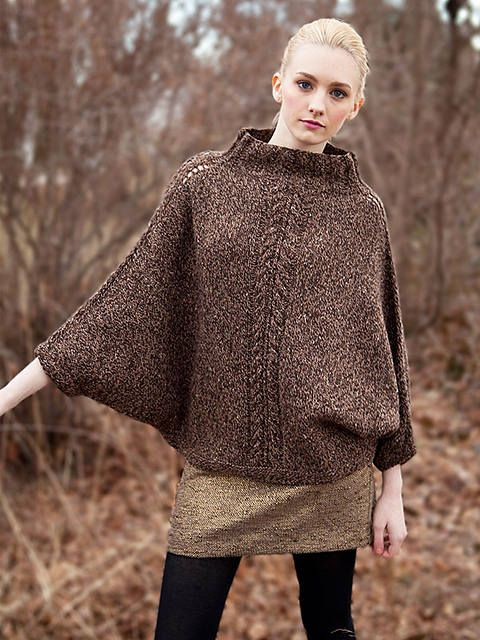 Poncho con mangas para las mujeres cabo lana alpaca cable ...