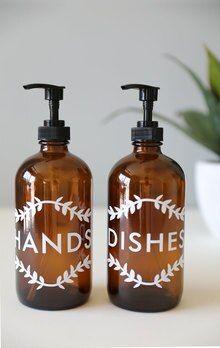 Laurel Hands Dishes Kitchen Dispenser Set Kitchen Dishes Soap Dispenser Glass Soap Dispenser