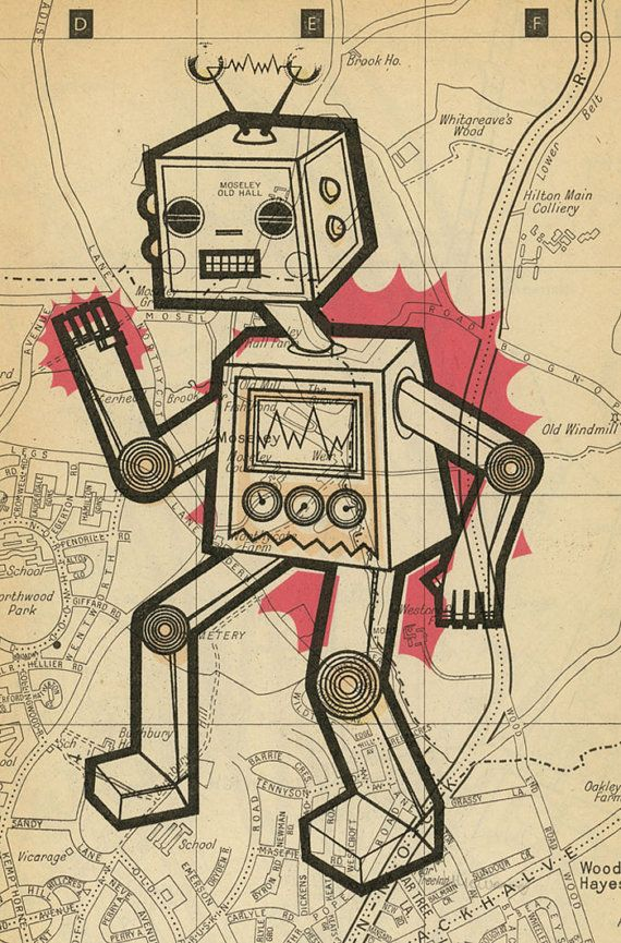 This robot represents the field in which I will be studying and - new robot blueprint vector art
