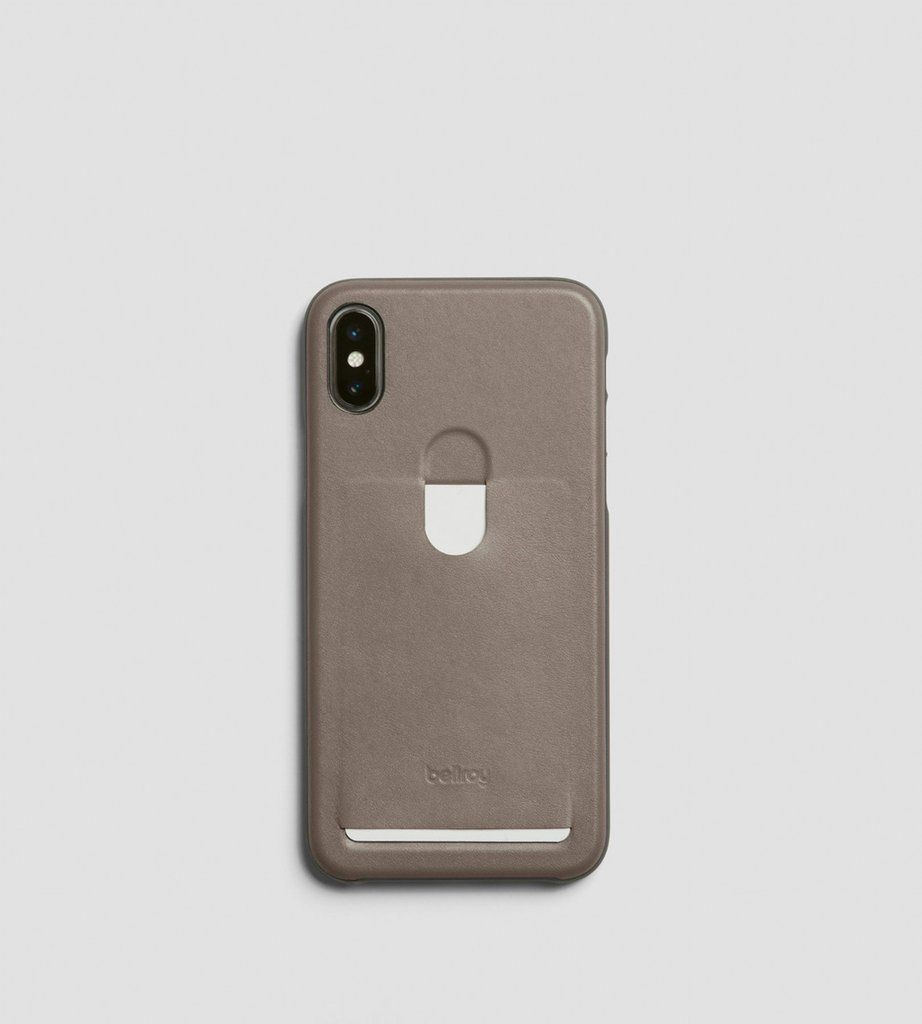 Bellroy iphone x case 1 card stone iphone case