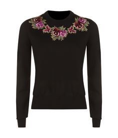 View the Floral Embroidered Sweater