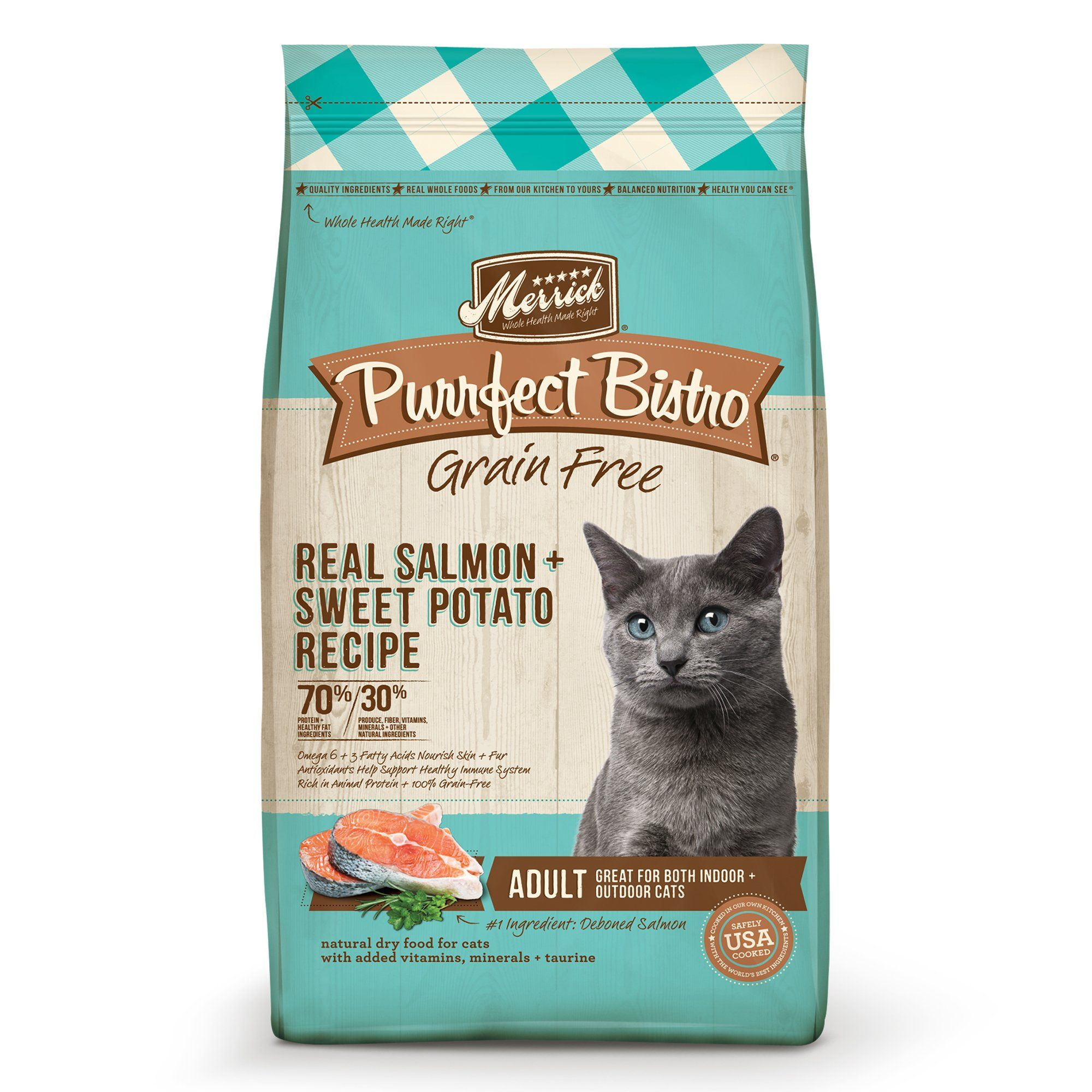 Merrick Purrfect Bistro Grain Free Real Salmon Adult Dry