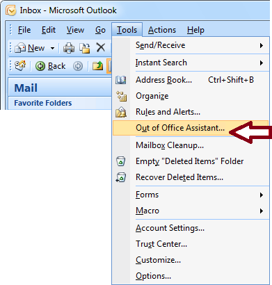 Send Automatic Out Of Office Replies From Outlook Outlook Office Assistant Out Of Office Reply