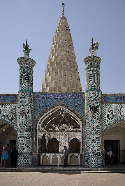 Unusual entrance to the Tomb of the prophet Daniel - Susa, Iran