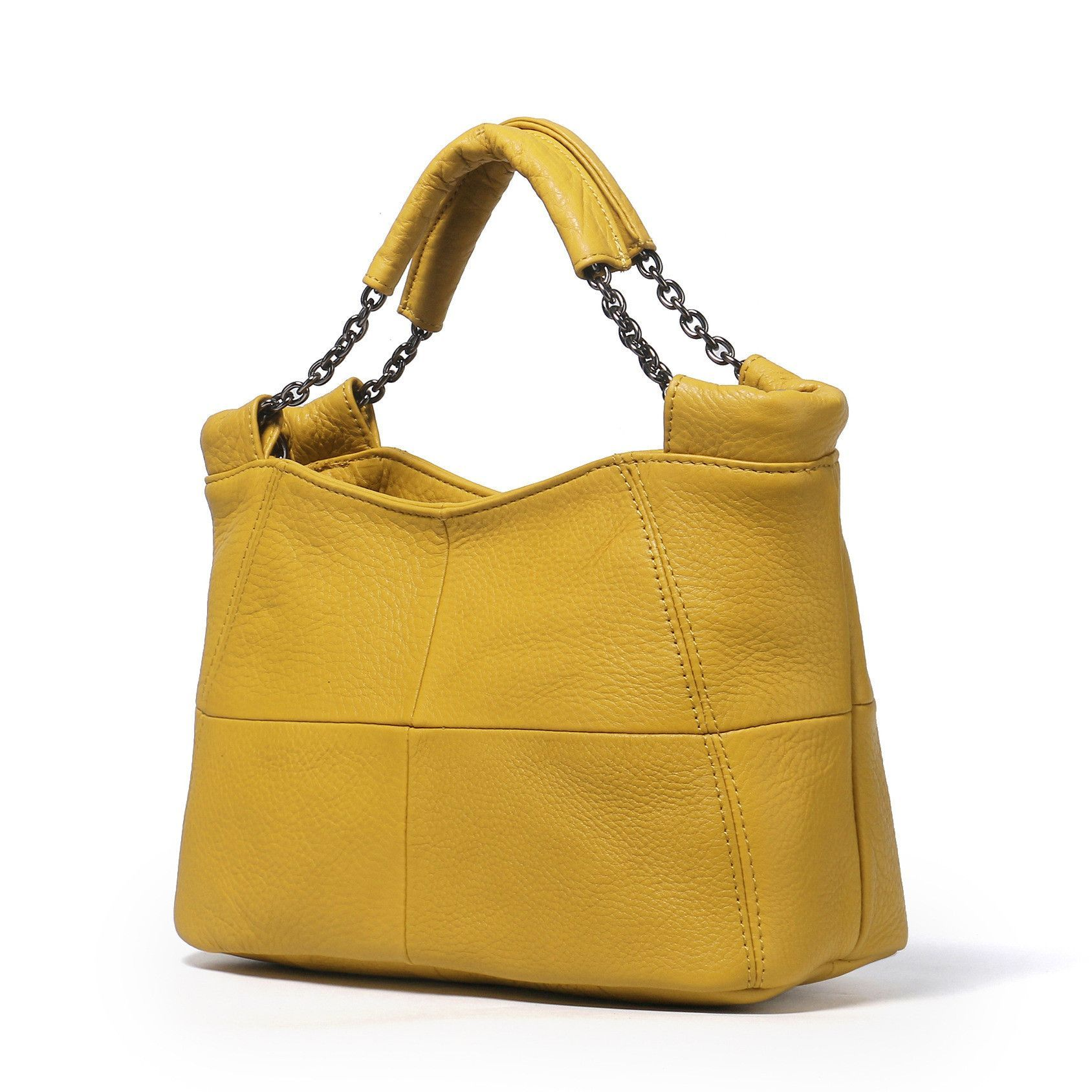 Best Special Offer New Bucket Quality Genuine Leather Women Handbags 2017 Brand Tote Bag Plaid Top Handle Famous Designer Totes