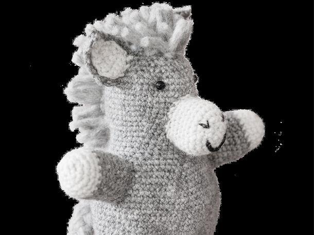 Süßer Kuscheltier-Esel zum selber häkeln | Oder