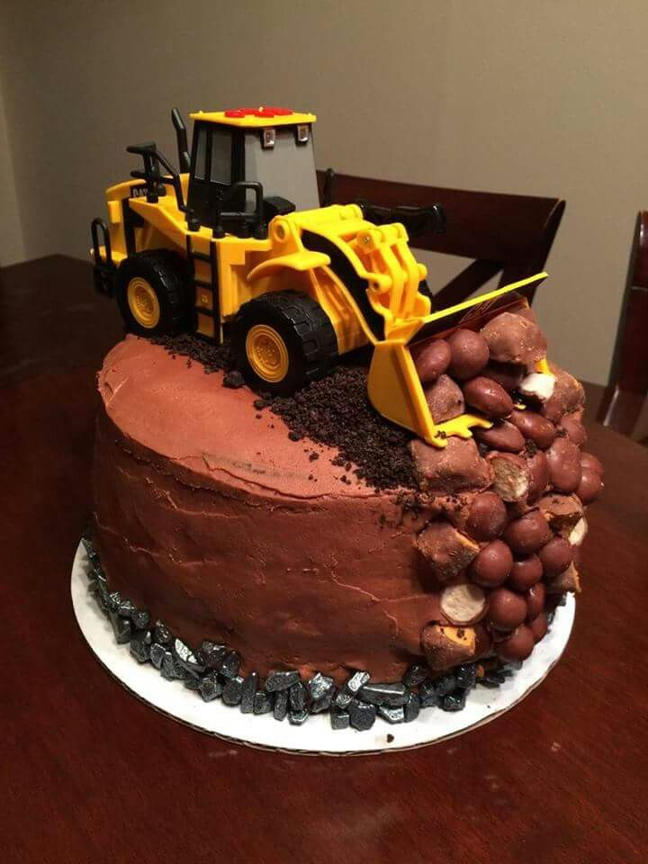 Marvelous Bulldozer Cake With Images Cake Bulldozer Cake Birthday Cake Personalised Birthday Cards Beptaeletsinfo
