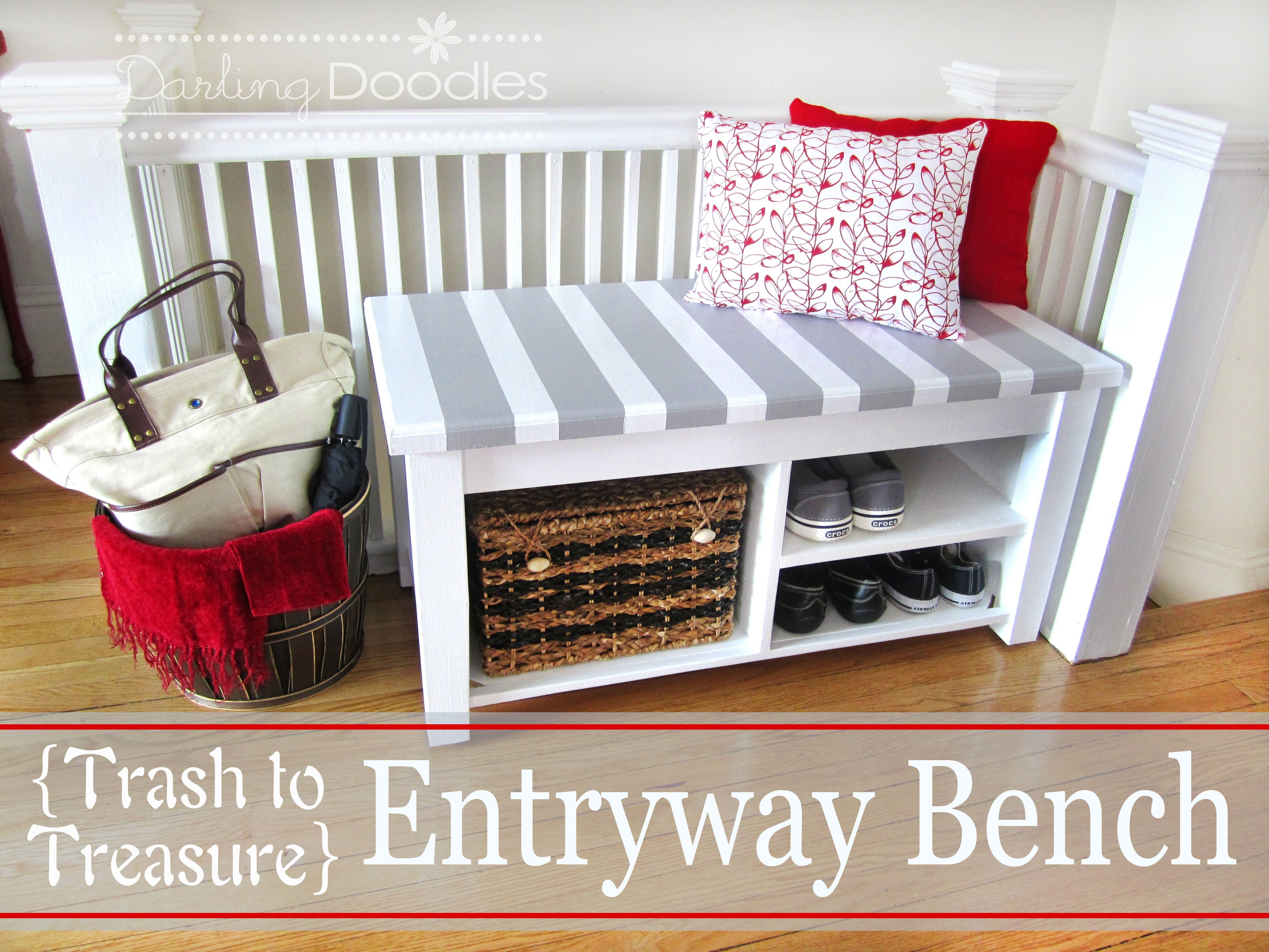 Foyer Seating Nj : Diy entryway our bench darling doodles