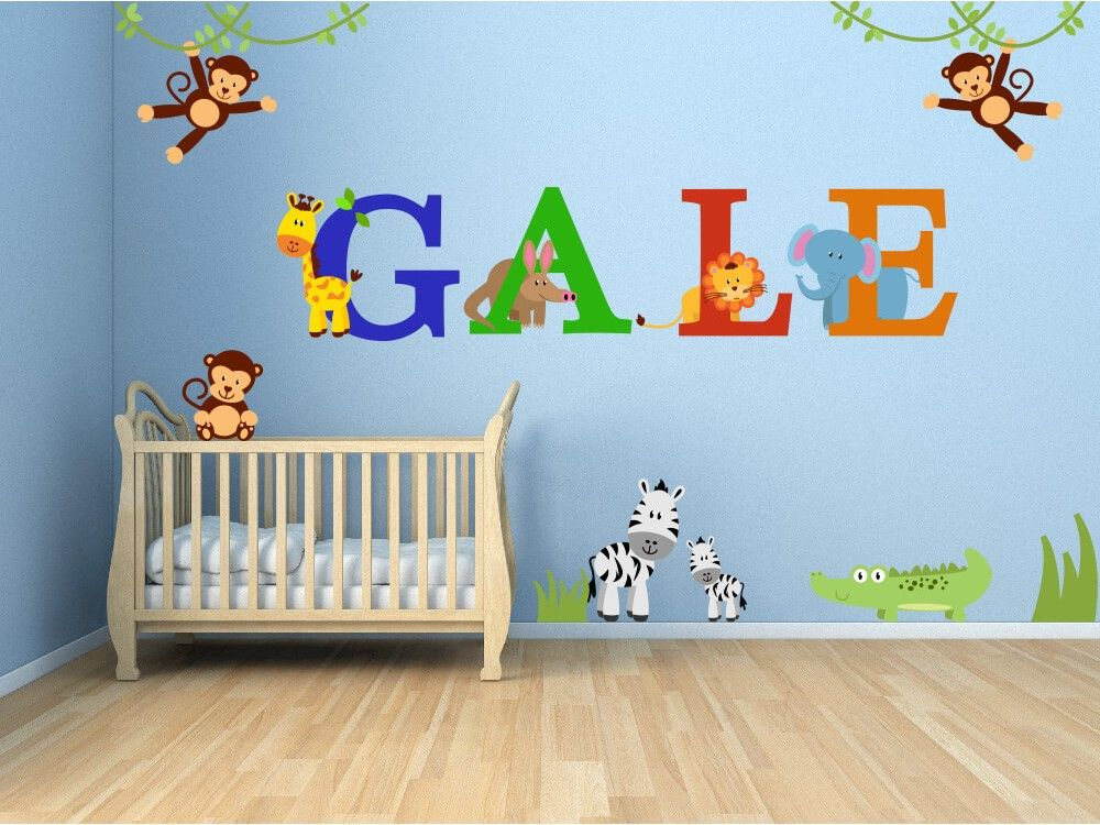 Zoo Babies Jungle Animal Nursery Wall Decals Jungle Wall Decals Nursery Wall Decals Jungle Animals Nursery