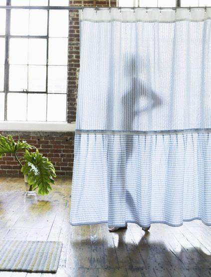 A Seersucker Shower Curtain My Life Is Made