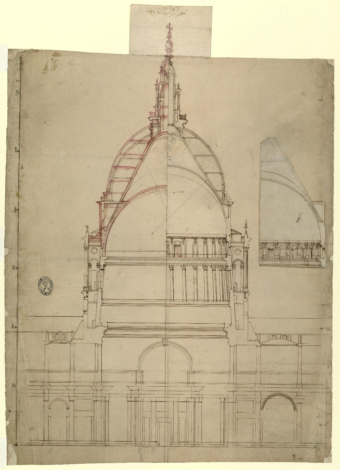 Plan And Elevation Maths : Wren s designs for st paul cathedral church